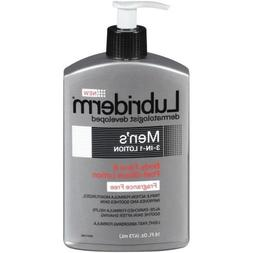 Lubriderm Mens 3 in 1 Fragrance Free Lotion,16 Fluid Ounce -