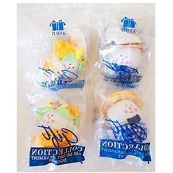 1996 Avon Gift Collection Egg Sachet Ornaments Set of 4