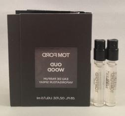 2 Tom Ford Oud Wood EDP Spray Vial Travel Sample .05 Oz/1.5