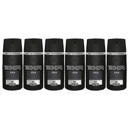 6 AXE Black Deodorant Bodyspray Men Body Spray 150 mL each