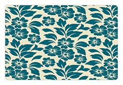 Ambesonne Floral Pet Mat for Food and Water, Flower Petals B