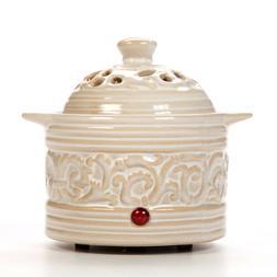 Hosley Electric Ceramic Fragrance / Potpourri Warmer - CREAM