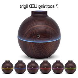 KEJIAHE 130ml Aroma Essential Oil Diffuser, Wood Grain Ultra