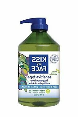 Kiss My Face Fragrance Free Moisturizing Shower Gel, Bath an