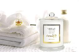 LA JOLIE MUSE Plumeria Scented Candles 100% Soy Wax Glass Ja