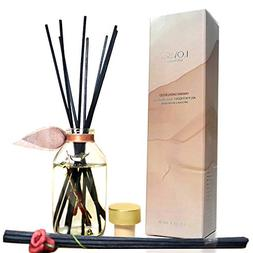 LOVSPA Hawaiian Sandalwood Essential Oil Reed Diffuser with