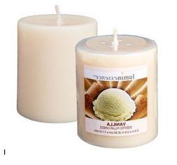 """Luminessence Vanilla Pillar Candles, 2½"""""""