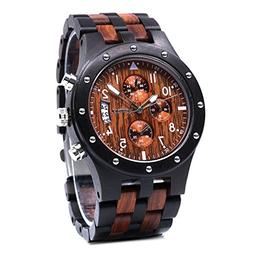 Men Natural Handmade Classic Fashion Wood Watch Analog Quart