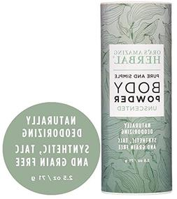 Natural Unscented Body Powder and Dry Shampoo, Fragrance Fre