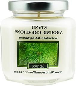 Premium 100% Soy Wax Candle - 6 - oz. Hex Jar- Spruce: More