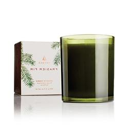 Thymes - Frasier Fir Pine Needle Green Glass Jar Candle, 50-