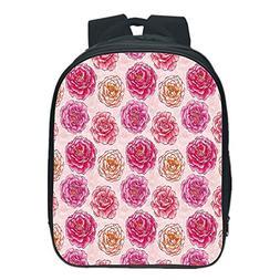 Vogue Pressure Relief Spine Kids School Backpack,Floral,Roma