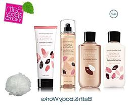 Bath & Body Works ALMOND & VANILLA Deluxe Gift Set Lotion ~