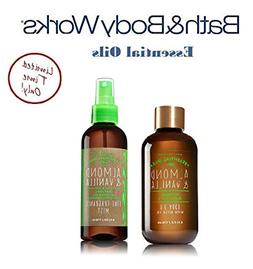 Bath and Body Works ALMOND & VANILLA Olive Oil Gift Set - Bo