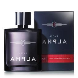 Avon Alpha Eau De Toilette Fragrance Perfume For Men 3.4 Oz