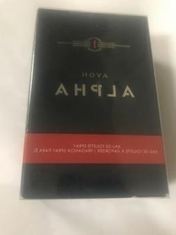Avon Alpha Men's Eau De Toilette Cologne New Fragrance Spray