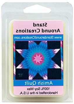 Amish Quilt Soy Wax Melt Tart- Spicy, sweet, and complex. Va