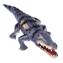 AMOFINY Toys Electric Walking Sound Crocodile Toy Simulation