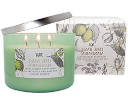T&H Stress Relief Aromatheraphy Candles 3 Wick Pure Soy Wax