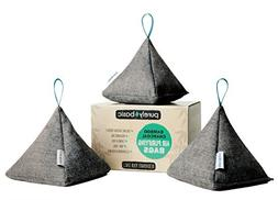 Bamboo Charcoal Air Purifying Bags :: Set of 3 All Natural O
