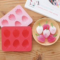 Bar Tools & Accessories - Silicone Strawberry Mold Cookie Cu