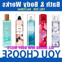 Bath and Body Works Fine Fragrance MIST spray full size 8 oz