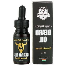 Royal Bravo Beard Oil Classic Blend with Argan, Yellow Jojob