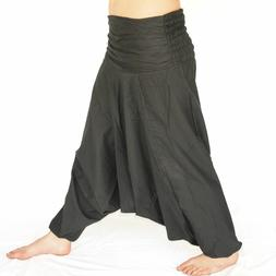 Black Ali Baba Harem Pants Aladdin Afghan Genie Hippy Yoga J