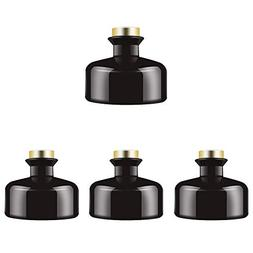 Feel Fragrance  Black Glass Diffuser Bottles Diffuser Jars w