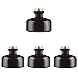 Feel Fragrance  Black Glass Diffuser Bottles Diffuser Jars w
