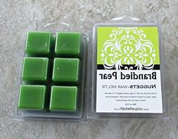 Brandied Pear Wax Melts, 2 package deal, vivid pear with hin