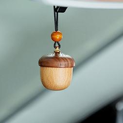Car Perfume, FreSky Retro Handmade Wooden Car Freshener Perf
