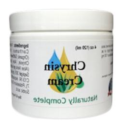 Naturally Complete Chrysin Cream 4 oz. Jar | for Men and Wom