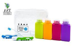 Lingito Travel Bottle Set, Leak Proof Travel Accessories, TS