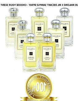 JO MALONE COLOGNE SPRAY - 5 ML AUTHENTIC SAMPLE SPRAY - CHOO