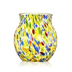 COOSA Colorful Glass Electric Oil Warmer or Wax Tart Burner