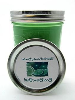 Cool Citrus Basil  Green Medium 16 Ounce Pint Canning Jar Sc