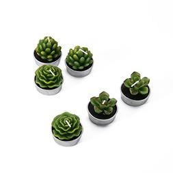 Decorative Scented Smokeless Cactus Tealight Candles, Cute M