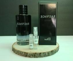 Dior Savage EDT For Men Glass Sample Spray 2ML/5ML 100% Auth