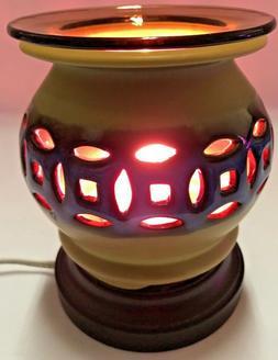 electric ceramic fragrance lamp oil burner wax