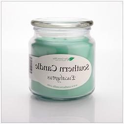 Eucalyptus 16 oz Decorator Jar Natural Soy Wax Candle
