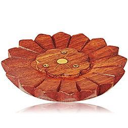 Valentines Day Gifts Wooden Incense Stick Burner Holder Orga