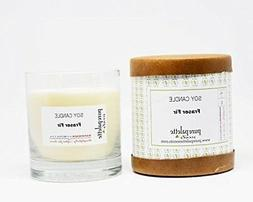 Fraser Fir Soy Candle in Glass Jar and Kraft Box Handmade in
