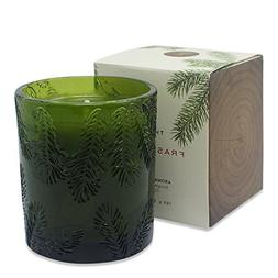 THYMES FRASIER FIR CANDLE MOLDED GREEN GLASS
