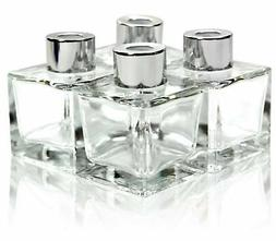Feel Fragrance Glass Diffuser Bottles with Silver Caps Refil