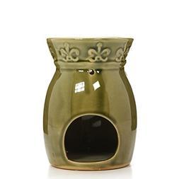 Hosley Ceramic Green Essential Oil/Fragrance Oil Warmer. Ide