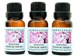 Japanese Cherry Blossom 3 Bottles 1/2 FL Oz Each  Premium Gr
