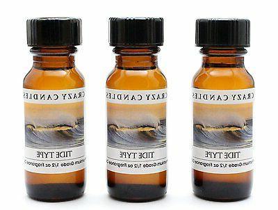 3 Tide   1/2oz Premium Grade Scented Fragrance Oil Crazy Can