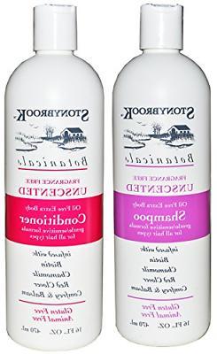 Stonybrook Botanicals Fragrance Free Unscented Shampoo and C