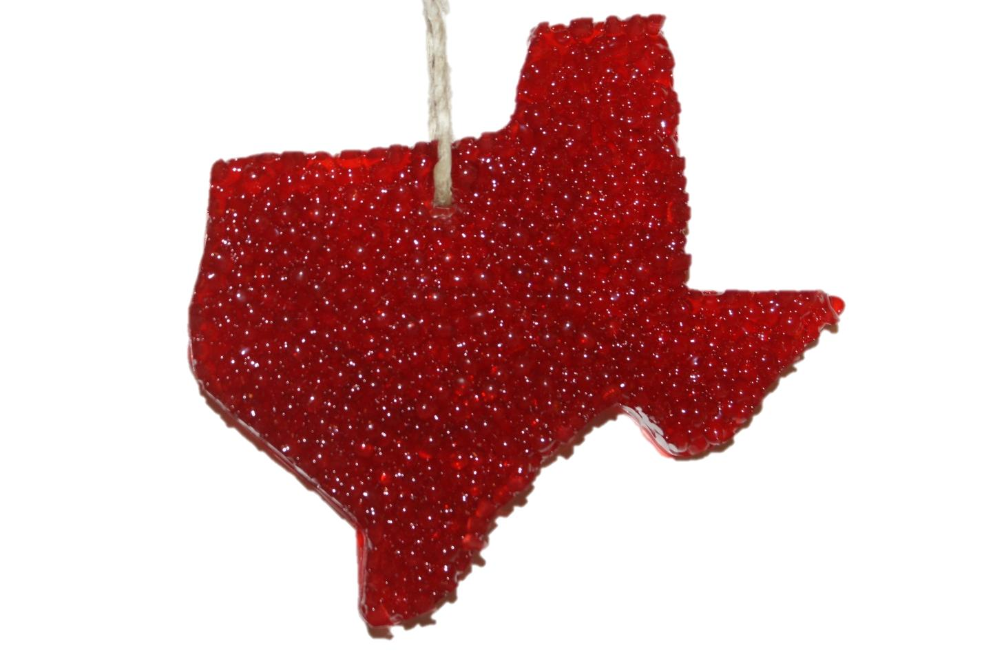 ChicWick Car Candle Leather Fiery Texas Shape Car Freshener
